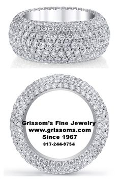 Incredible French Pave diamond band. In stock at Grissom's Fine Jewelry.