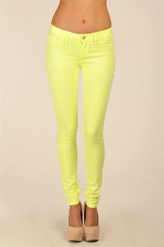 Hysteria Neon Jeans - Neon Yellow