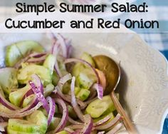 Great snack option- cucumbers, red onion, apple cider vinegar, little sea salt, pepper & dill
