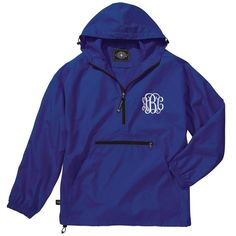 6c0b719503e9 Make this Monogrammed Rain Jacket yours by choosing from 15 bright spring  colors! This personalized
