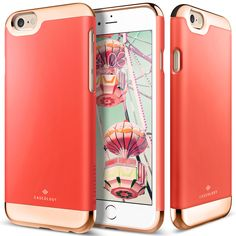 Caseology Savoy Series for iPhone 6S in Hot Pink and Rose Gold $16.99
