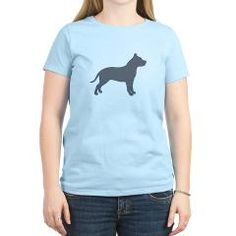 pit bull color silhouette T-Shirt> Pit Bull gear> Dog Tracks 2