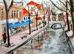DELFT - 2006 - AMSTERDAM TRIP  Watercolor by Judy Underwood