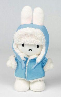 Winter ready Miffy. Female Rabbit, Pokemon, Bunny Nursery, Miffy, Kids Corner, Easy Diy Crafts, My Little Girl, Plushies, Cute Wallpapers