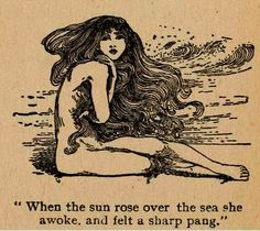 venusmilk: Fairy tales of Hans Andersen by Helen Stratton 'When the sun arose over the sea she awoke, and felt a sharp pang' Art Inspo, Mermaid Art, Tattoo Mermaid, Vintage Mermaid Tattoo, Mermaid Paintings, Face Paintings, Art Graphique, The Little Mermaid, Art Nouveau
