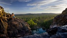 Gunlom Plunge Pool, at the top of a water fall in Kakadu National Park is one of the world's best natural infinity pools. #NTAustralia
