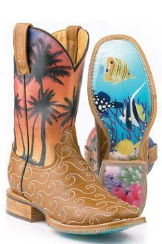 Tin Haul Women's Aloha Cowgirl Boots |Tin Haul