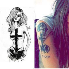 Taylor Momsen tattoo (@lucasbdavid drawing)