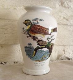 Portmeirion Pottery Cirl Bunting Vase/ Excellent Beautiful Item by MerryLegsandTiptoes on Etsy