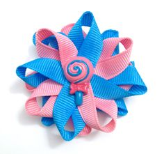 New to CupcakesClipShop on Etsy: Blue & Pink Lollipop Small Hair Bow Set - Handmade Hair Bow Set - Small Lollipop Candy Hair Bow Set - 2.5 inch Hair Bow Set - No Slip (5.00 USD)
