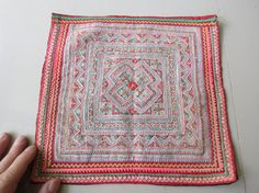 Etsy の Vintage Hmong fabric Handmade Fabrics handmade by dellshop