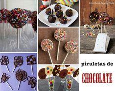 ¿Y si hacemos Piruletas de Chocolate? … 6 Recetas de piruletas de chocolate para la fiesta de cumpleaños infantil.