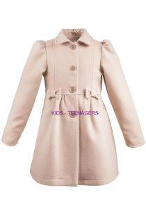 dievčenský kabát AISZA 5 v púdrovo ružovej farbe