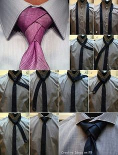 How to Tie a Necktie - Eldredge Knot - How to Tie a Tie. Great pin since I tie all of Leo's ties Diy Fashion, Mens Fashion, Fashion Tips, Eldredge Knot, Tie A Necktie, Necktie Knots, Cool Ties, Looks Cool, Well Dressed