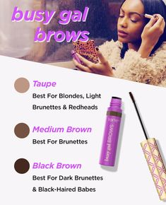 Busy Gal BROWS Tinted Brow Gel by Tarte #11
