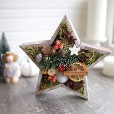 Christmas Makes, Christmas Star, Rustic Christmas, Winter Christmas, Vintage Christmas, Christmas Wreaths, Christmas Crafts, Christmas Ornaments, Xmas