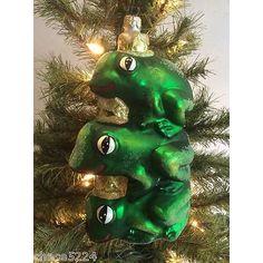 "Christopher Radko ""LEAP OF FAITH"" Frog Prince Ornament retired vintage 1998 rare"
