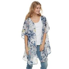 d2a99b68474 Women s SONOMA Goods for Life™ Chiffon Floral Kimono