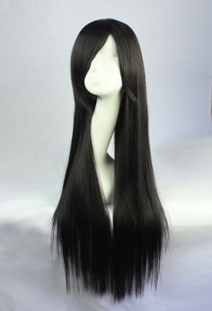 Black Side, Long Black, Buy Wigs Online, Lover Fashion, Long Hair Styles, Beauty, Cosmetology, Long Hairstyles, Long Haircuts