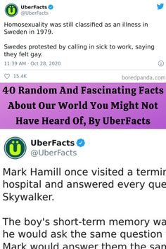 40 Random And Fascinating Facts About Our World You Might Not Have Heard Of, By UberFacts