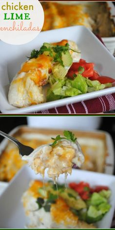 Chicken Lime Enchiladas. (Use low carb tortillas to make low carb dish)