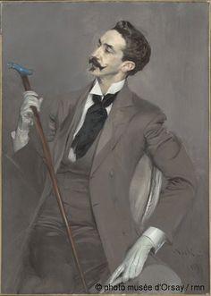 Giovanni Boldini Le comte Robert de Montesquiou en 1897 huile sur toile H. 1.155 ; L. 0.825 musée d'Orsay, Paris, France