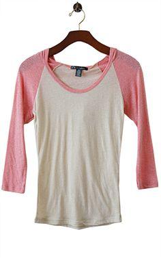 Colorblock Raglan Tissue Tee with bonus hoodie.  A little bright, happy jumpstart to my spring/summer wardrobe. $14
