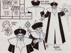 Alex Toth Shazzan Wizard model sheet