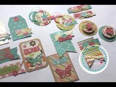 DIY Embellecedores con scraps ...... DIY scrapbook embellishments * Creaciones Izzy - YouTube