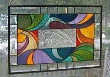 **SIMPLY SWIRLED** Stained Glass Window Panel (Signed and Dated)