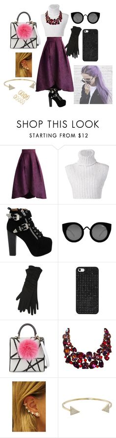 """""""Untitled #163"""" by ri-hab on Polyvore featuring Chicwish, Baja East, Jeffrey Campbell, Quay, M&Co, BaubleBar, Les Petits Joueurs, Kenneth Jay Lane, Michael Kors and Forever 21"""