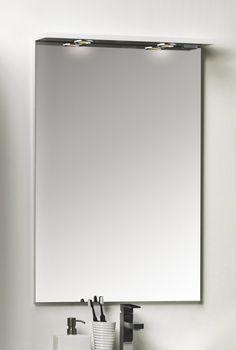 Peili Noro Avanti 600 valaistuksella ja pistorasialla valkoinen kiiltävä