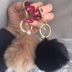 2/$25 Fur Ball & Faux Pearl Keychain Fobs PRICE is FOR ONE Keychain or two for $26. Requesting listing for special 2/$26 price. Can be attached to purse, belt loop, messenger bag, etc.. Faux fur, faux pearl. Gold tone color. Fashion accessory. Fluff with hair dryer on cool setting upon arrival. Brand new w/o tags for boutique retail. No trades, no holding, no offsite payment.   ❗️DO NOT PURCHASE THIS LISTING❗️ Request color WHEN READY to BUY, I will list      PRICES ARE FIRM UNLESS BUNDLED…