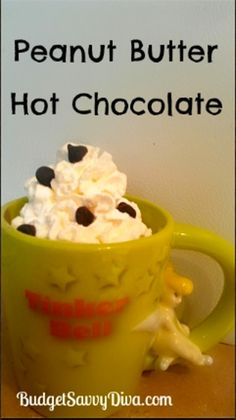8. #Peanut Butter Hot Chocolate - 9 #Delectable Drink #Recipes Sure to Satisfy Your #Sweet Tooth ... → Food #Butter