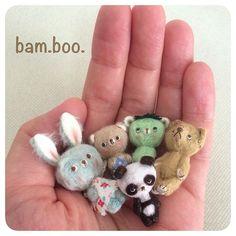 【bam.boo.mini】さんのInstagramをピンしています。 《明日から高円寺のハンドメイドSHOPのca*n*owFORESTさんで開催される「ゆかいな動物の森」展に作品を出展します(o^^o) よろしくお願いします!! http://s.ameblo.jp/ca-n-ow/entry-12187498317.html  #ミニチュア部 #ドールハウス #テディベア #ミニチュア #ドール #ハンドメイド #手芸 #ぬいぐるみ #miniatureanimaldoll #miniatureteddybear #miniature #dollhouses #handmade #cute #kawaii #doll #micro #teddybear #ミクロ #ポンチ目 #ベージュベア #ビスコース #縫ってひっくり返して綿を詰めてます #人差し指クマ #人差し指の第一関節 #カッパ #ウサギ #森 #パンダ》