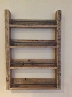 4 Shelf Reclaimed Wood Spice Rack with by SpudsCreativeAsylum