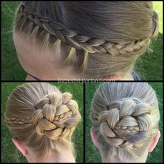 Micro Braid Striped Bun from BabesInHairland.com #bun #braids #dutchbraid