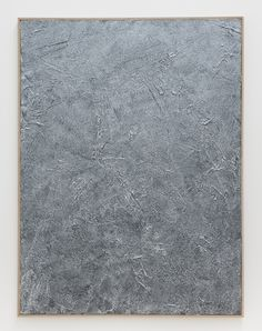 Roman Liška Silver Black (Texture Piece Flat), 2012  Pigment, acrylic, iridescent medium and lacquer on canvas in artist frame