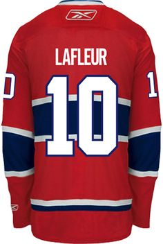 d5f4f639e Montreal Canadiens VINTAGE Guy LAFLEUR  10 Official Home Reebok Premier  Replica NHL Hockey Jersey (