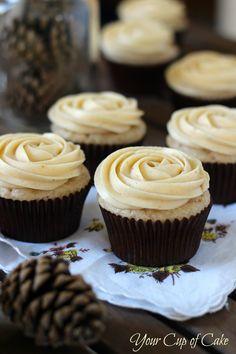 Pumpkin Rose Cupcakes