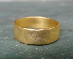 Handmade Wedding Ring Gold Wedding Band Gold by AurumJewelry Rustic Wedding Bands, Handmade Wedding Rings, Gold Wedding Rings, Gold Band Ring, Gold Bands, Ring Ring, Metal Jewelry, Gold Jewelry, Unique Weddings