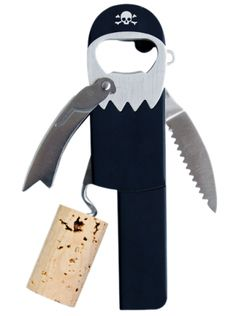 """Legless Pirate"" Bottle Opener (Black) #InkedShop #bottleopener #pirate #homegoods #kitchenware"