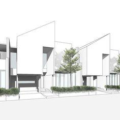 Unbelievable Modern Architecture Designs – My Life Spot Duplex Design, Townhouse Designs, Modern House Design, Modern Tropical House, Arch House, Facade House, House Roof, Concept Architecture, Residential Architecture