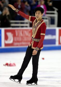Nathan Chen Photos Photos - Nathan Chen competes in the Men's Free Skate program during the 2017 U.S. Figure Skating Championships at the Sprint Center on January 22, 2017 in Kansas City, Missouri.  Chen placed first to win the gold medal and become the 2017 US Men's Figure Skating Champion. - 2017 U.S. Figure Skating Championships - Day 4