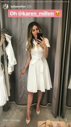 White Dress, nude heels