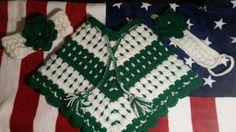 Crochet baby poncho Crochet Baby Poncho, Tree Skirts, Christmas Tree, Blanket, Holiday Decor, Home Decor, Teal Christmas Tree, Decoration Home, Room Decor