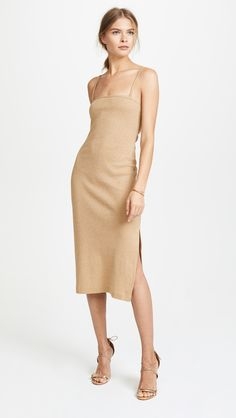 Bec & Bridge Glitter Gal Dress. Glittering metallic threads lend allover shimmer to this curve-clinging Bec & Bridge dress. affiliate