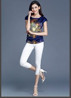 b36bca857db 2016 Summer women blouses casual chiffon silk blouse slim short sleeve  O-neck blusa feminina tops shirts solid Plus size M-5XL - MISS LADIES