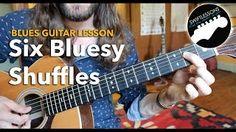 blues shuffle guitar - YouTube