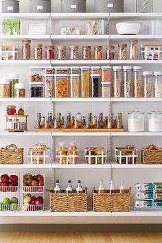 New Kitchen Pantry Storage Ideas Organisation Ideas Kitchen Organization Pantry, Pantry Storage, Home Organization, Pantry Ideas, Pantry Diy, Organized Pantry, Organizing Ideas, Pantry Baskets, Organised Life